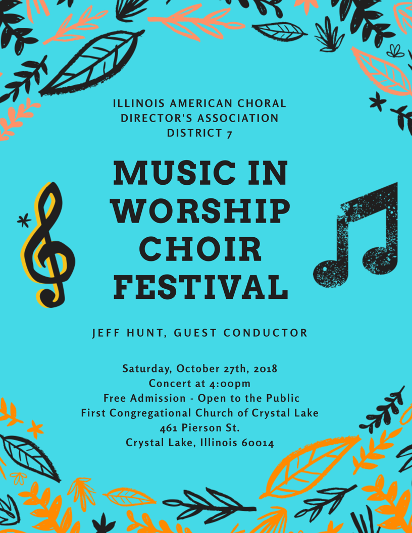 IL-ACDA D7 Music in Worship Choir Fest Flyer